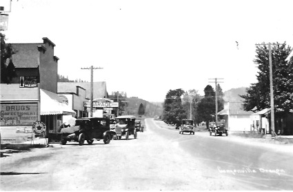 Main Street Canyonville 1920s